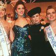 Archives - Geneviève de Fontenay, Mareva Georges, Miss France 1991 et Linda Hardy, Miss France 1992