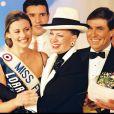 Archives - Sophie Thalmann élue Miss France 1998 à Deauville avec Geneviève de Fontenay et Jean-Pierre Foucault