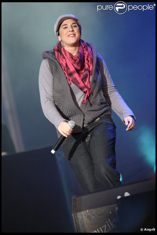 Diam's lors d'un concert à Meaux le 27 septembre 2009