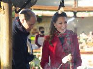Kate Middleton festive : manteau rouge au marché de Noël, William brûle sa guimauve