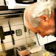 Pierre Meneau a partagé cette photo de son défunt papa Marc, sur Instagram, en janvier 2017.
