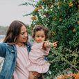 """Cécilia de """"Mamans & Célèbres"""" et sa fille Sway, décembre 2020"""
