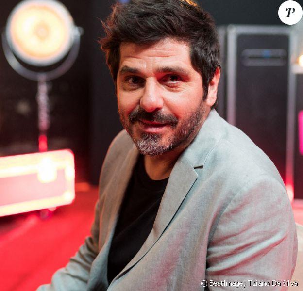 """Exclusif - Patrick Fiori - Backstage de l'enregistrement de l'émission """"300 Choeurs chantent Dassin"""" à Paris sur France 3.© Tiziano Da Silva / Bestimage"""