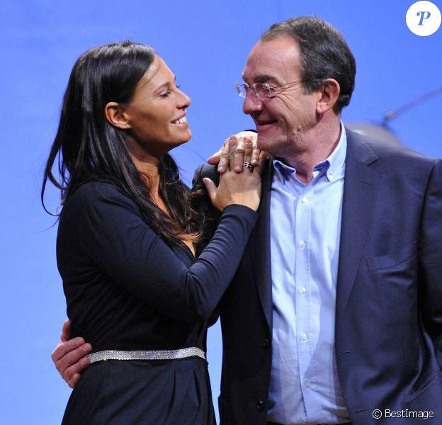 """Nathalie Marquay - Jean-Pierre Pernaut - Filage de la pièce """"Pièce@Matignon"""" au théâtre du Gymnase"""