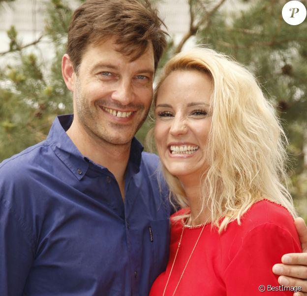 Elodie Gossuin-Lacherie et son mari Bertrand Lacherie - People au village lors des internationaux de tennis de Roland Garros