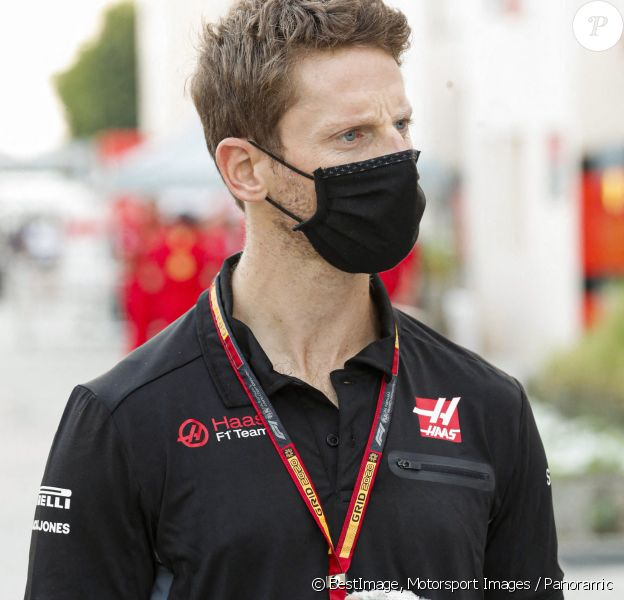 (Le pilote Romain Grosjean est forfait pour le Grand Prix d'Abou Dhabi et arrête sa carrière de pilote après son accident ) - Romain Grosjean, Haas F1 - Grand Prix de Sakhir. © Motorsport Images / Panoramic / Bestimage