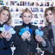 """Vanessa Pinoncely, Anne-Charlotte Pontabry et Alexandra Rosenfeld - Vernissage de l'exposition """"Human Heart"""" pour l'association Ninoo à l'espace Beaurepaire à Paris, le 2 avril 2015."""