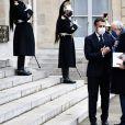 Arrivée au Palais de l'Elysée de Jose Angel Gurria ( Secrétaire général de l'OCDE) - Emmanuel Macron ( président de la République ) - Paris, le 14 décembre 2020. © Federico Pestellini / Bestimage