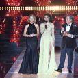 Sylvie Tellier, Clémence Botino (Miss France 2020) et Jean-Pierre Foucault, élection de Miss France 2021 le 19 décembre sur TF1