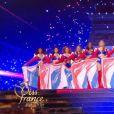lors du défilé des 15 demi-finalistes sur le thème du 14 juillet - élection de Miss France 2021 le 19 décembre sur TF1