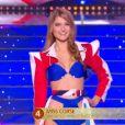 Miss Corse   :   Noémie Leca   lors du défilé des 15 demi-finalistes sur le thème du 14 juillet - élection de Miss France 2021 le 19 décembre sur TF1