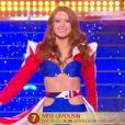 Miss Limousin   :   Léa Graniou   lors du défilé des 15 demi-finalistes sur le thème du 14 juillet - élection de Miss France 2021 le 19 décembre sur TF1