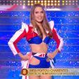 Miss Poitou-Charentes   :   Justine Dubois   lors du défilé des 15 demi-finalistes sur le thème du 14 juillet - élection de Miss France 2021 le 19 décembre sur TF1