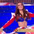 Miss Côte d'Azur   :   Lara Gautier   lors du défilé des 15 demi-finalistes sur le thème du 14 juillet - élection de Miss France 2021 le 19 décembre sur TF1