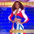 Miss Mayotte   :   Anlia Charifa   lors du défilé des 15 demi-finalistes sur le thème du 14 juillet - élection de Miss France 2021 le 19 décembre sur TF1