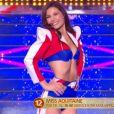 Miss Aquitaine   :   Leïla Veslard   lors du défilé des 15 demi-finalistes sur le thème du 14 juillet - élection de Miss France 2021 le 19 décembre sur TF1