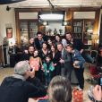 """Yaniss Lespert sur le tournage de l'épisode spécial de """"Fais pas ci, fais pas ça"""" pour Noël, le 18 décembre 2020 sur Instagram."""