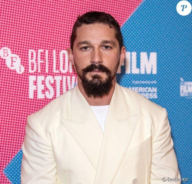 """Shia LaBeouf à la première du film """"Honey Boy"""" lors de la 63e édition du festival BFI du film de Londres au cinéma Odeon Luxe Leicester Square à Londres, Royaume Uni, l'année dernière."""