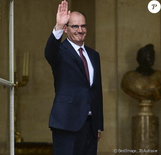 Passation de pouvoir à Matignon entre Edouard Philippe et Jean Castex, nouveau Premier ministre. Paris, l'été dernier. © JB Autissier / Panoramic / Bestimage