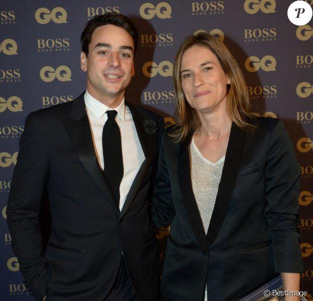 """Julian Bugier et sa femme Claire Fournier lors de la soirée """"L'homme de l'année GQ 2014"""" au Musée d'Orsay, à Paris."""