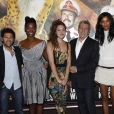 """Jamel Debbouze, Aissa Maiga, Louise et Alain Chabat et Liya Kebede- avant première du film """"Sur la piste du Marsupilami"""" au Gaumont Marignan à Paris, le 26 mars 2012."""