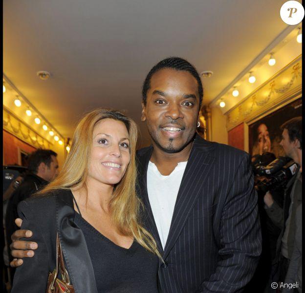 Anthony Kavanagh et Alexandra lors du spectacle de Gregory Charles à Paris le 12 octobre 2009