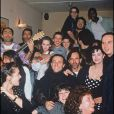 Florent Pagny et Vanessa Paradis en soirée à Paris, en 1991.