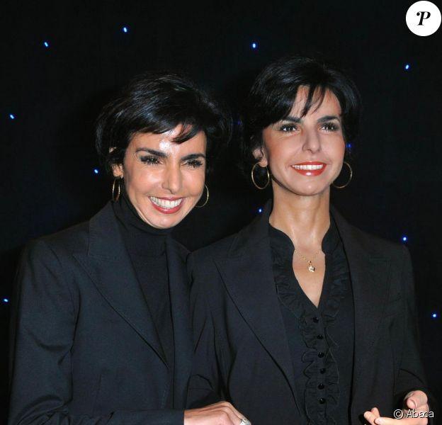 Rachida Dati découvre son double de cire et l'inaugure, le 13 octobre, au musée Grévin.