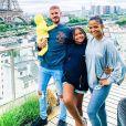 M. Pokora, Violet, Isaiah et Christina Milian sur Instagram. A Paris, cet été.