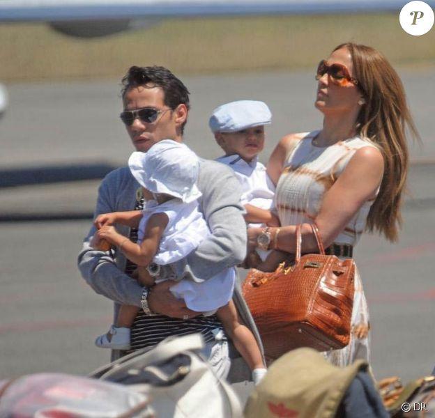 Jennifer Lopez, Marc Anthony et leurs jumeaux Emme et Max