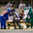 Accident de Romain Grosjean lors du Grand Prix de Formule 1 de Bahrein à Sakhir. Le 29 novembre 2020 © Motorsport Images / Panoramic / Bestimage