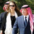 Rania de Jordanie et son mari le roi Abdullah II  lors d'une cérémonie militaire, à Amman, le 14 octobre 2009