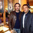 Anthony Delon et Steve Suissa lors de la soirée Italian Touch à la boutique Tod's. Paris, le 13 octobre 2009