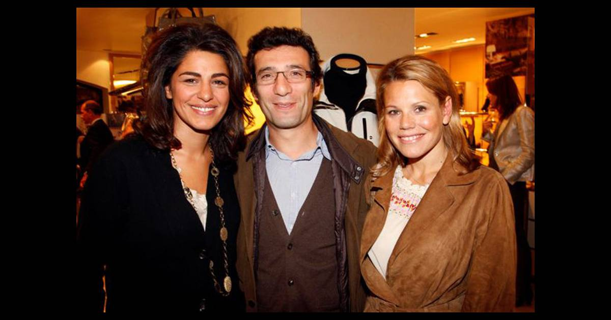 Laura tenoudji et son compagnon avec sarah doraghi lors de la soir e italian touch la boutique - Damien thevenot et son compagnon ...