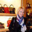 Sophie Davant lors de la soirée Italian Touch à la boutique Tod's. Paris, le 13 octobre 2009