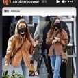 Caroline Receveur très fière en voyant Lily Collins porter sa marque de vêtements RECC Paris - Instagram, 17 janvier 2021