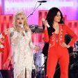 Katy Perry, Dolly Parton et Kacey Musgraves à la 61e édition des GRAMMY Awards à Los Angeles, le 10 février 2019.