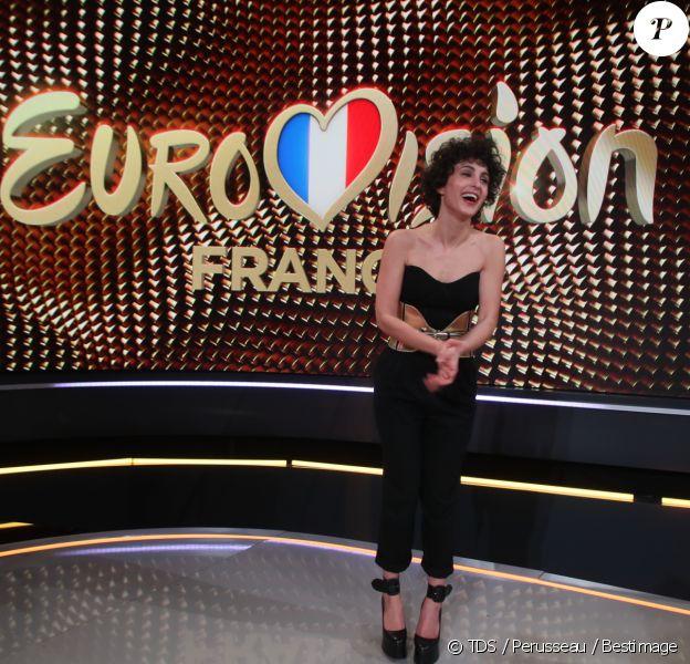 Barbara Pravi lors de la soirée Eurovision France sur France 2. Elle sera la candidate tricolore du concours de la chanson. TDS / Perusseau / Bestimage