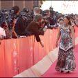 La chanteuse israélienne Noa, très enceinte, lors du 4e Festival du Film de Rome, le 16 octobre 2009 !