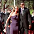 Carl Lewis et Elisa Isoardi, lors du 4e Festival du Film de Rome, le 16 octobre 2009 !
