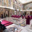 Le pape François lors d'une audience au Vatican pour l'inauguration de l'année judiciaire le 29 janvier 2021.
