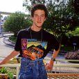 """Archives - Dustin Diamond, acteur de la série """"Sauvé par le gong"""" est mort d'un cancer à 44 ans. Photo : Dustin Diamond en 1992. © Globe Photos/ZUMA Wire / Bestimage"""