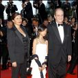 Frédérique et Pierre Lescure et leur fille Anna à Cannes en 2010.