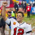 Tom Brady a remporté son septième Super Bowl au Raymond James Stadium à Tampa, le 7 février 2021. Les Buccaneers (avec Tom Brady) ont battu les Chiefs 31-9. Photo by Stephen M. Dowell/Orlando Sentinel/TNS/ABACAPRESS.COM