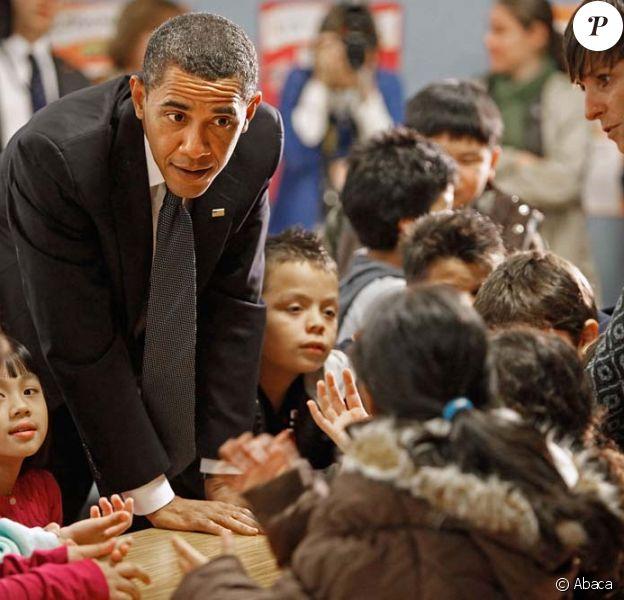 Barack Obama visite un école dans le Maryland, lundi 19 octobre 2009.
