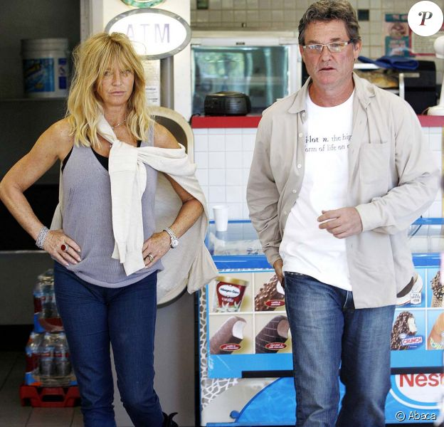 Goldie Hawn et Kurt Russell dans les rues de Los Angeles.