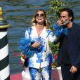 Anthony Delon et sa fiancée Sveva Alvit arrivent à l'hôtel Excelsior lors de la 77ème édition du festival international du film de Venise (Mostra) le 2 septembre 2020.