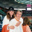 Archives - Rosalie Van Breemen et Alain Delon au match Pays-Bas / Belgique en 1998
