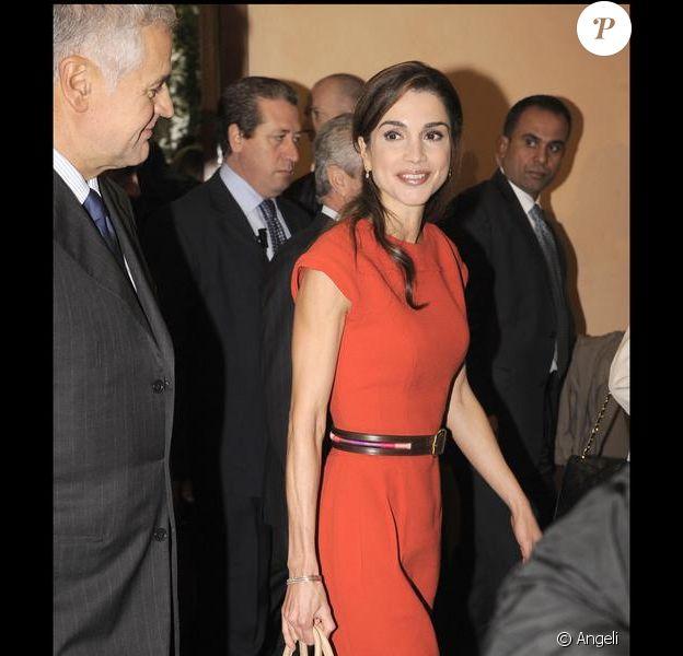 Rania de Jordanie poursuit sa visite officielle italienne, à Milan. 22/10/09