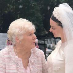 Miranda Kerr et sa grand-mère lors de son mariage à Evan Spiegel.